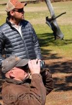Dad and Steve at Flight demonstration Center for Birds of Prey