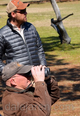 Dad and Steve at Flight demonstration Center for Birds of Prey